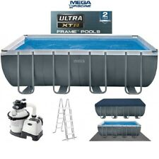 """Intex 26356 18ft x 9ft x 52"""" Ultra Frame Above Ground Swimming Pool Sand Pump"""