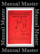 Model VX520 Jones Brother sewing machine instruction Manual Booklet