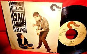 ADRIANO CELENTANO Ciao amore/Veleno 7' + PS 1962 ITALY EX+ TOP!