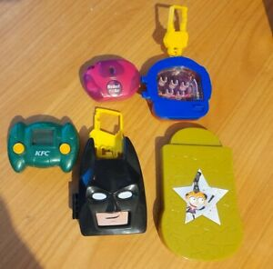 Happy Meal toys 5pc,handheld cricket game,lego game,KFC,Maccas,2003,2005,2006.