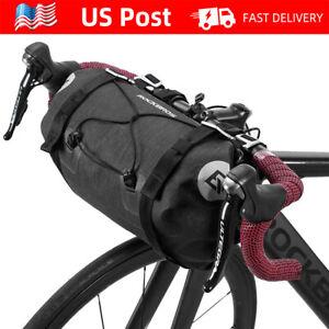 ROCKBROS Bike Handlebar Bag Waterproof Large Dry Pack Bicycle Front Roll Bag 15L