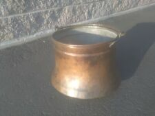 Vintage Copper And Brass Bell Shaped Pot With Handle