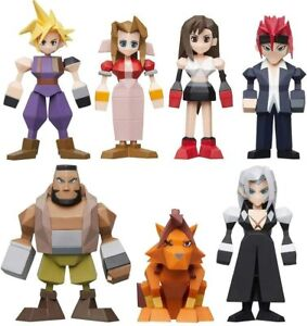 OFFICIAL SQUARE ENIX FINAL FANTASY VII (7) POLYGON CHARACTER FIGURES - BRAND NEW
