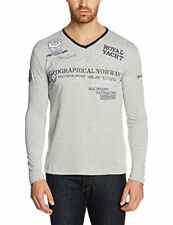 Geographical Norway Jersozon Men LS Manica lunga Uomo Grigio (blended Gree) S