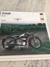 Zündapp KK200 1935 KK 200 cm3 Carte moto Collection Atlas Allemagne