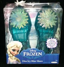 DISNEY FROZEN ELSA ICY BLUE LIGHT UP SHOES BRAND NEW FACTORY SEALED