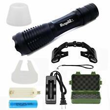 1300 Lumens Flashlight Super Bright LED Adjustable Focus Rechargeable Battery