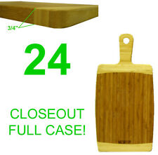 """Closeout! 24 New Bamboo Wood Kitchen Cutting/Serving Boards W/Handle,13.75""""X7&#0 34;"""