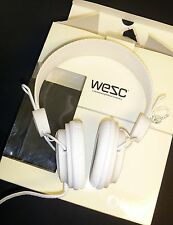 WeSC Oboe Headphones - All White - MP2 iPod - NeW in BoX