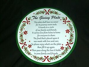 """NEW Christmas Cookie GIVING PLATE Melamine Decorative GIFT 12"""" Diameter"""