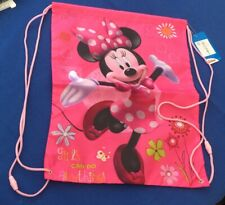 Kids Girl Children's Disney Minnie MouseSports Pull String Swim PE Gym Gift Bag