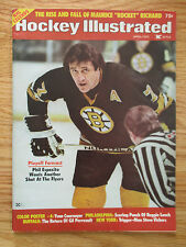 PHIL ESPOSITO Hockey Illustrated (April 1975) Magazine BOSTON BRUINS