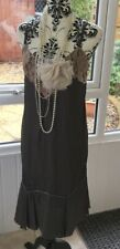 Fabulous Twiggy Collection Dress Charlston Gatsby Flapper BNWT SIZE 12 Beaded