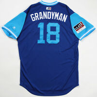 "CURTIS ""GRANDYMAN"" GRANDERSON GAME USED & WORN 2018 PLAYERS WEEKEND JAYS JERSEY"