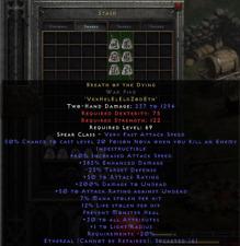 Diablo 2 Resurrected D2R  - Breath of the Dying BOTD | Eth War Pike