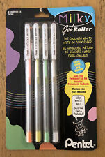 Pentel Milky Gel Roller Pens 4 Pack Japan New Old Stock Collection Only