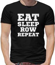 Eat Sleep Row Repeat Mens T-Shirt - Rower - Rowing - Sports - Canoe - Kayak