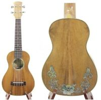 Alulu Solid Acacia Koa Concert Ukulele, orchid inlay,with case HU1635 / HU1643