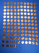 Lincoln Cent Set 1950-2018 154 Coin Collection Wheat Memorial Shield BU !
