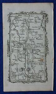 Rare antique road map EAST LOTHIAN, HADDINGTON, Armstrong, 1776