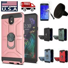 For Samsung Galaxy J7 2018/ Refine Hybrid Case Cover+Screen Protector+Car Holder