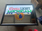"*RARE* 25"" X 19"" Coors Light Michigan Beer Mirror Sign (Read Description)"