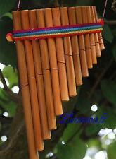 Panflöte 13 Bambusrohre längeste ca 30 cm aus Peru