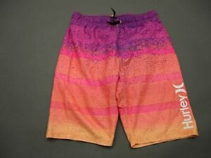 Hurley Size 14-16 Boys Multicolor Swimming Trunks Lined Board Shorts T719