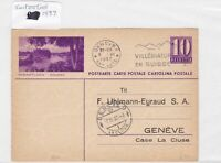 Japan to switzerland 1937 stamps cover Ref 8690