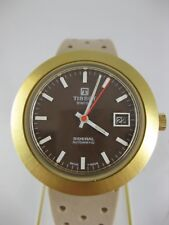 TISSOT VINTAGE gold AUTOMATIC Uhr SIDERAL FIBERGLASS Armbanduhr ORIGINAL