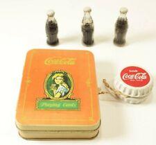 Lot of 5 Vintage Coca-Cola Collectibles - Cards in Tin, Yo-Yo, Mini Bottles