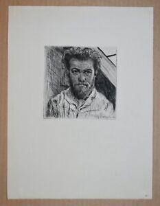Unknown German Artist Signed Original Etching Portrait 1913