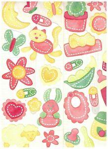Creative Memories Baby Girl Bright Jumbo Great Lengths Stickers BNIP