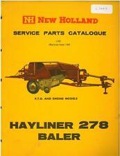 NEW HOLLAND HAYLINER 278 BALER PARTS MANUAL - GTC-N **ORIGINAL**
