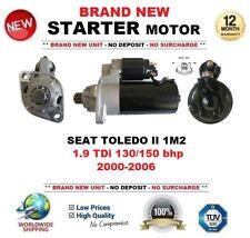 FOR SEAT TOLEDO II 1M2 1.9 TDi 130/150 bhp 2000-2006 STARTER MOTOR 2.0kW 11Teeth