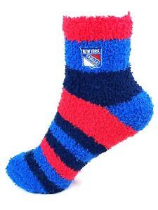 New York Rangers Rainbow Stripe Fuzzy Socks