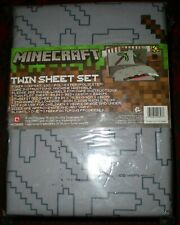 CHILD'S MINECRAFT 3 PIECE TWIN SHEET SET - NEW IN PACKAGE!