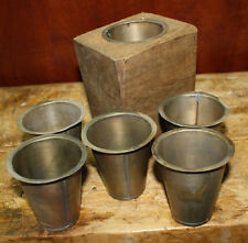 3 Replacement Sugar Mold Candle Holder Primitive TIN CUP Votive Candles