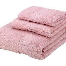 Brand New 100% Egyptian Cotton 3pc Set Face Hand Bath Bathroom Towels Luxury Set