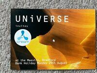 Universe invites Cream @ Maestro, Bradford 29-Aug '94 Rave Flyer