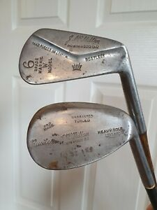 2x Vintage Irons Golf Clubs. By - J Mc Millan, Robin Hood Golf Club. Rustless