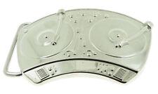 DJ Music Turntable Chrome Silver Metal Belt Buckle