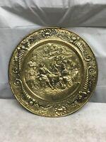 "1 Vintage Peerage Brass 14"" Wall Plate - Pilgrim PUB   Made In England Hanging"