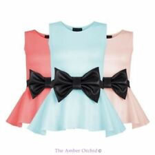 Polyester Blouses for Women with Bows