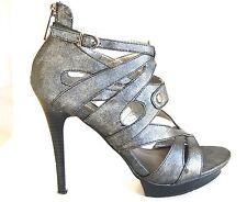 Women Gladiator Shoes High Heel Platform Silver