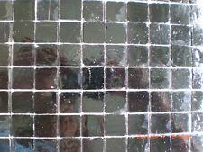 20 x 20 mm Mosaic Solid Black Vitreous Glass Mosaic 3 mm thick - 50 Tiles