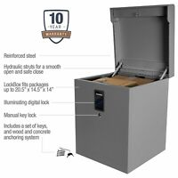 CleverMade Parcel LockBox S100 Series Digital Package Theft & Weather Protection