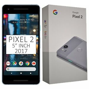 "BNIB 5"" Inch Google Pixel 2 (2017) G011A 64GB Blue Factory Unlocked 4G/LTE GSM"