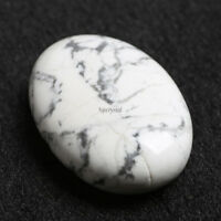 Palm Tumbled Stones White Turquoise Quartz Crystal Healing Smooth Soap Shape Gem