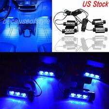 Car SUV LED Interior Atmosphere Under Dash Floor Footwell LED Light Strip Blue